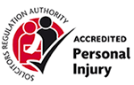 Solicitors Regulation Authority - Accredited Personal Injury Logo