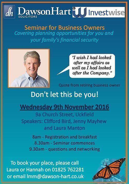 Seminar for Business Owners